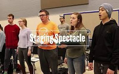 Spectacle, an original musical based upon the Marianist Founders, performed at UD