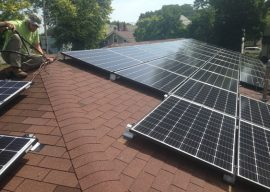 University of Dayton engineering students help Mission of Mary Cooperative become first net-zero energy organization in Dayton
